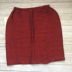 eileen fisher womens l red full skirt modest holid